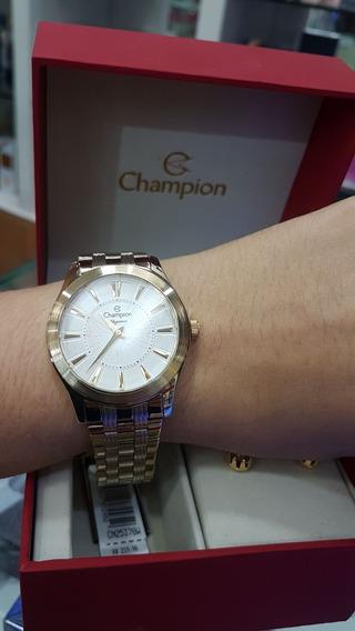 Relógio Champion Feminino - Cn25378w (com Colar E Brincos)