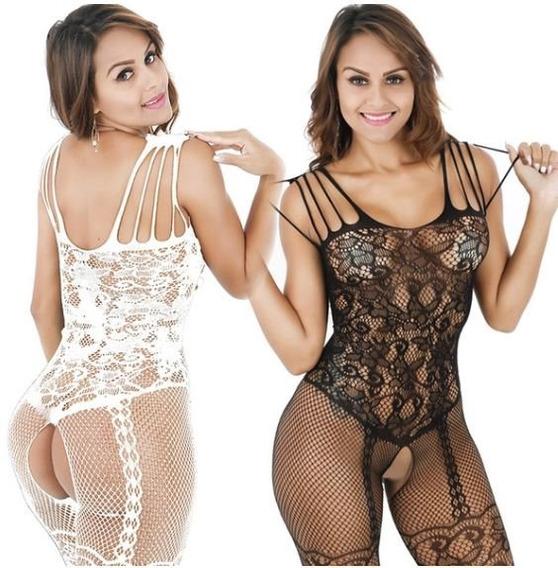 Macacão Feminino Sexy Meia Cinta Liga Lingerie Fantasia Ma3