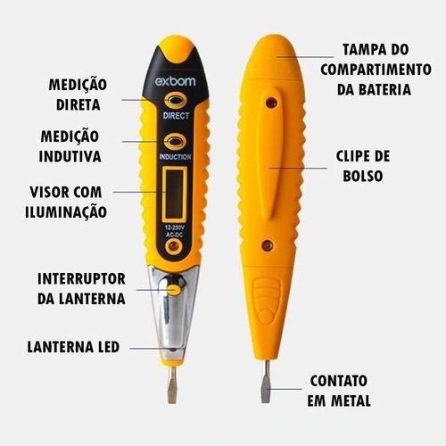 Imagem 1 de 7 de Caneta Teste De Voltagem E Corrente Elétrica Oferta