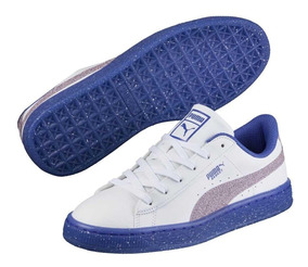 771d2a8bbe6 Puma Basket Iced Glitter 2 V Ps White 365024 02 Niña