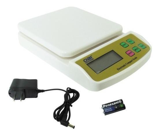 Bascula Multiusos Digital Gramera 10 Kg Con Eliminador Obi
