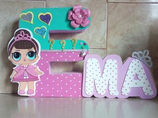 Letra 3d Con Nombre Corrido Motivo Lol Princesas Otros