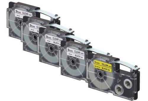 Imagen 1 de 1 de Paquete 5 Cintas Para Rotulador Casio 4 Xr-9x1 + 1 Xr-9yw1