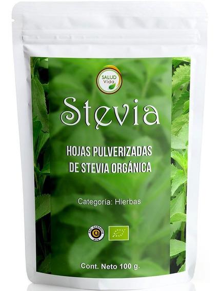 Stevia En Polvo, Certificada Orgánica 100 Gramos