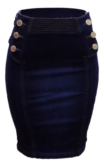 Saia Jeans Feminia Midi Moda Evangélica Kit C/ 8