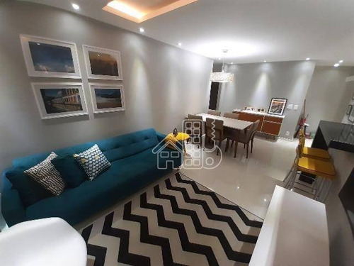 Apartamento Com 3 Dormitórios À Venda, 90 M² Por R$ 820.000,00 - São Domingos - Niterói/rj - Ap3881