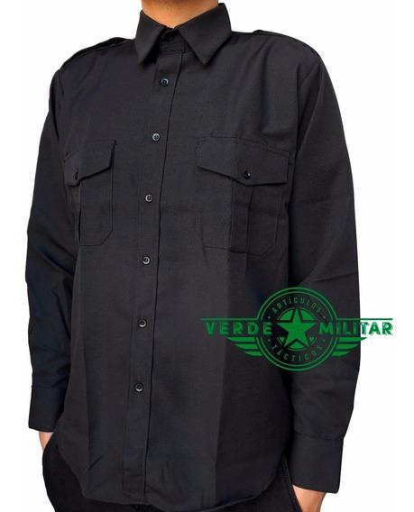 Camisa Camisola Táctica Ligera Para Vestir Casual Uniforme Policía Seguridad Privada Guardia Charretera Hombrera