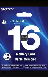Cartão De Memória 16 Gb Memory Card Psvita - Frete Grátis