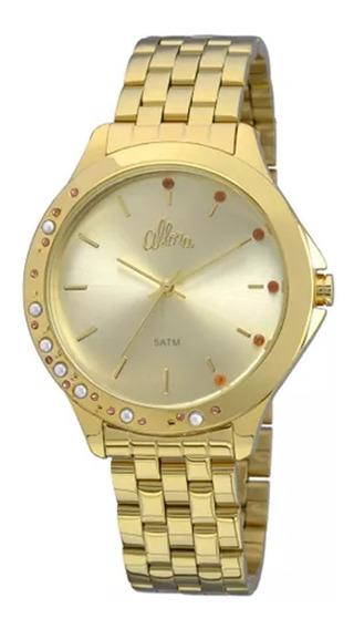Relógio Feminino Allora Al2035fbt/4d Dourado