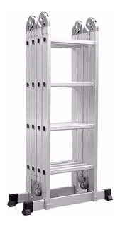 Escalera Articulada 4x4 Aluminio Multiproposito 4.7m Calidad