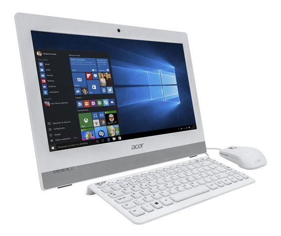 Computador Acer All In One Com Intel I3-5500u, 500gb