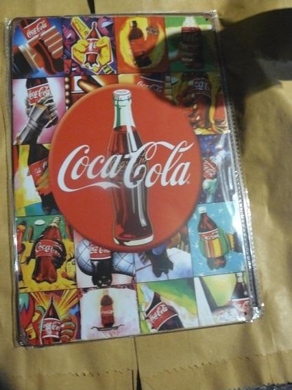 Cartel De Chapa Coca Cola Impreso No Plotter 30x 20 Cm