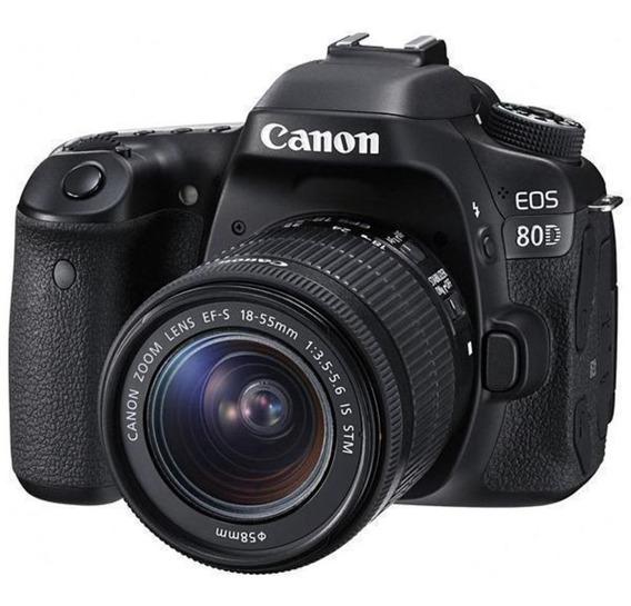 Câmera Fotográfica Canon Dslr Eos 80d (w) Lcd 3.0 24.2mp E