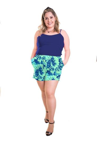 Roupa Feminina Plus Size Conjunto Short De Malha E Regata+56