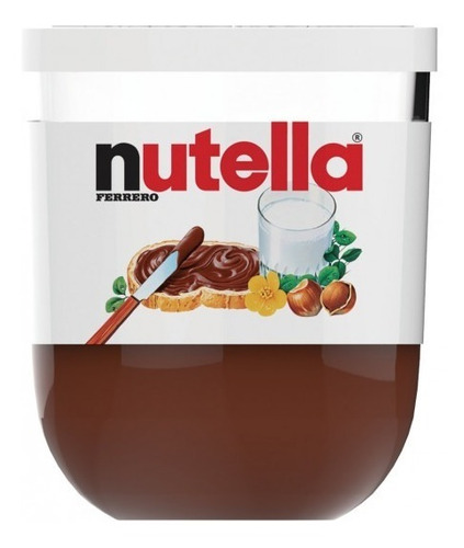 Imagen 1 de 5 de Crema Nutella De Avellanas Italiana Vasito Original De 200 G