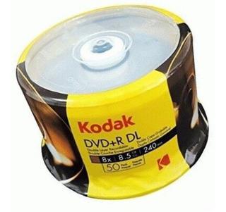Dvd + R Doble Capa Kodak 8.5g 8x Virgen En Blanco X 50 Unida