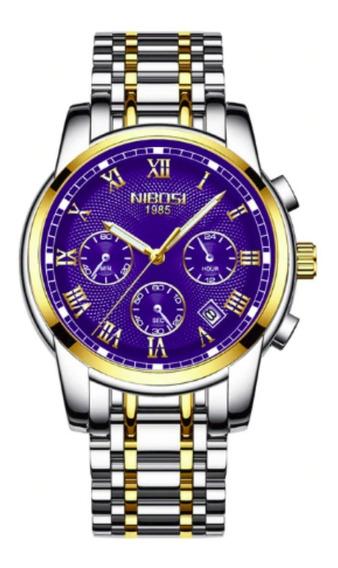 Relógio Nibosi Original Masculino Funcional Em Estoque 2302a