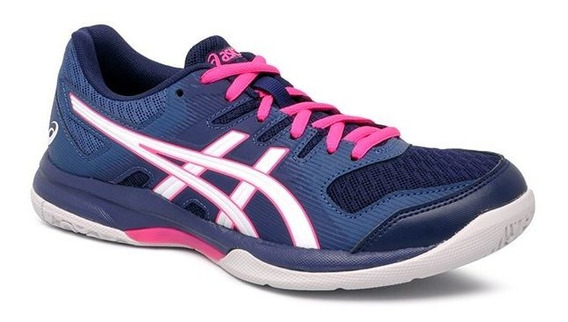 Tenis Indoor Asics Gel-rocket 9 Marinho/pink