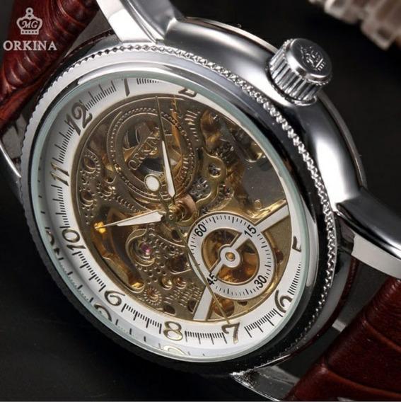 Reloj Orkina Mecanico Automatico Clasico Retro 100% Original