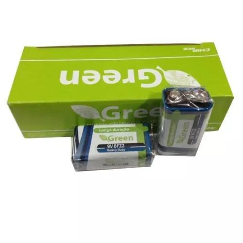 Kit 02 Bateria 9v Pilha Longa Duração Green P/ Eletrônico