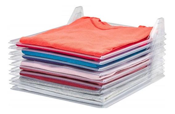 Set 10 Piezas Organizador De Playeras Camisas Chica Y Grande