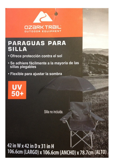 Sombrilla Paraguas Con Adaptador Para Silla De Acampar Playa