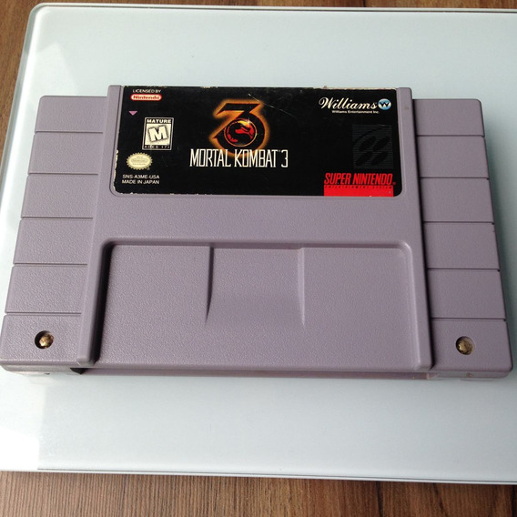 Cartucho Mortal Kombat 3 Original - Super Nintendo - Snes