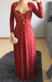 Vestido De Festa, Madrinha Longo Em Renda, Plus Size J008e