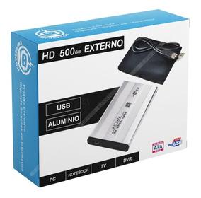 Hd Externo 500gb Alumínio Usb Capa Grátis Novo Slim
