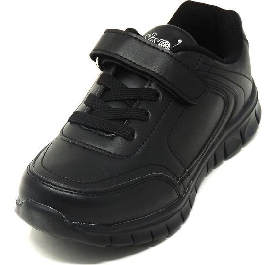 Zapatos Dep. Escolares Yoyo 15339v Negros 32-39 Envío Gratis