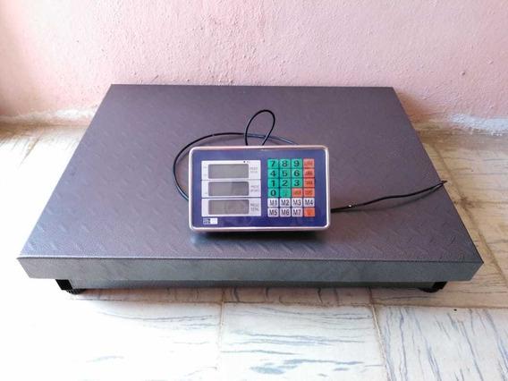Báscula Digital 300 Kg Plataforma 60cmx80cm Envio Gratis