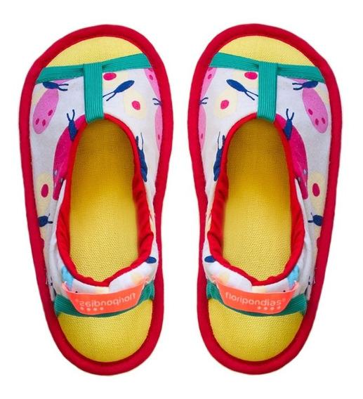 Pantuflas Nena De Diseño Con Suela Antideslizante Verano