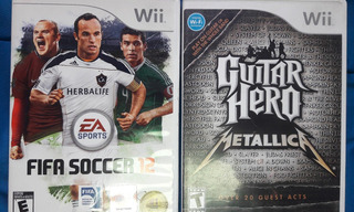 Guitar Hero Metallica + Fifa 12 (wii) Originales