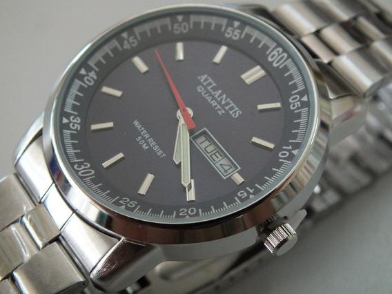 Relógio Masculino Atlantis Calendário Duplo (mod Hc 2)
