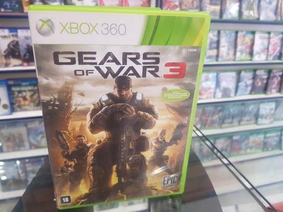Gears Of War 3 Usado Manuais Original Xbox 360 Midia Fisica