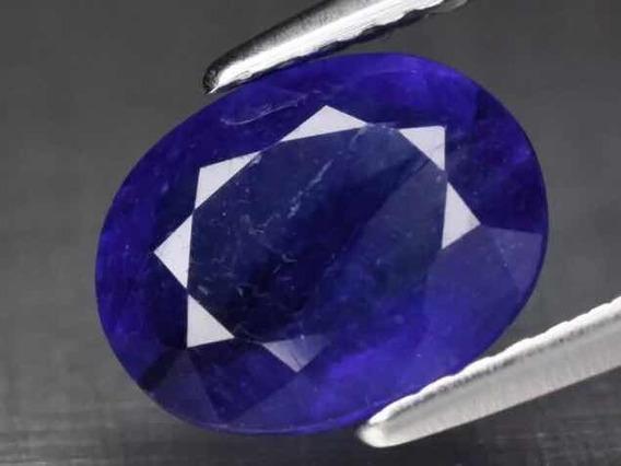 Safira Natural 1.57 Cts, Blue. Certificado Glc.