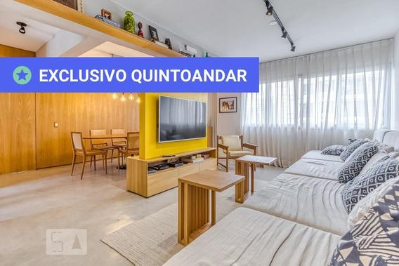 Apartamento No 10º Andar Mobiliado Com 1 Dormitório E 2 Garagens - Id: 892962580 - 262580