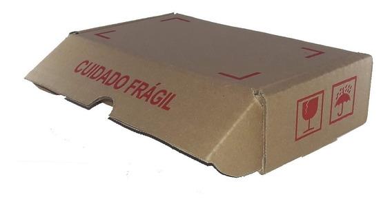 100 Caixas De Papelão 20x11x5 Com Impressão Frágil