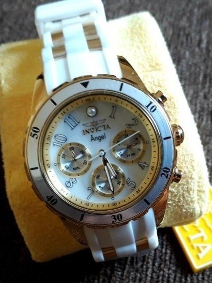 Relógio Invicta Angel 24901 Feminino Com Cronógrafo Original