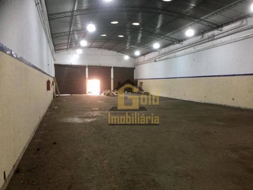 Galpão À Venda, 573 M² Por R$ 1.100.000 - Jardim Paulista - Ribeirão Preto/sp - Ga0116
