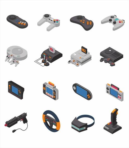 Pack Vectores Vídeo Juegos - Gamers