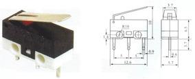 20 Peças Interruptor Micro Switch Chave Fim Curso Kw10b