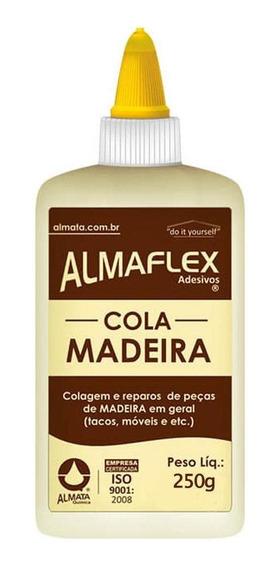 Cola Adesiva Para Madeira 250g Almata