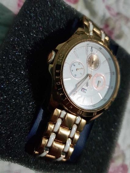 Relógio Tommy Hilfiger Dourado 100% Original Feminino