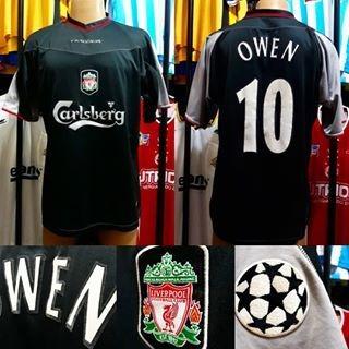 Camisa Liverpool- Reebok- Xl- 2002/2003- N°10 Owen- Away