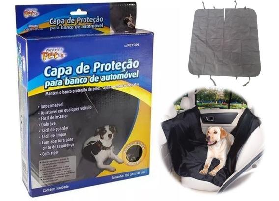 Capa Protetora Banco Traseiro Carro Pet Cão Gato Impermeável