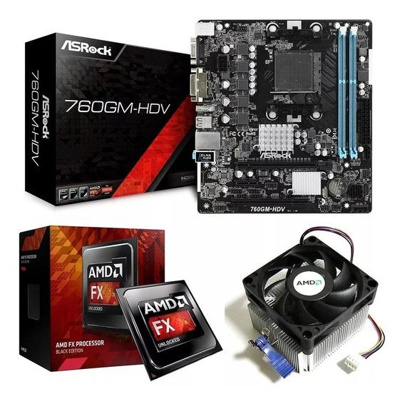 Kit Placa Mãe 760gm-hdv + Processador Amd Fx 4300