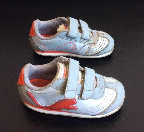 Zapatos Puma Para Niños Talla 24 Con Iluminación