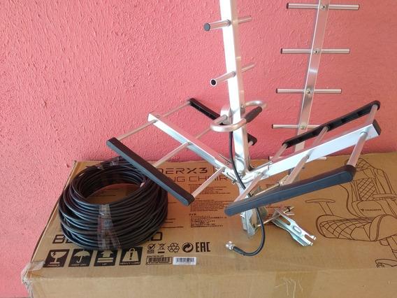 Antena Elgin Para Modem Mais 25 Metro De Cabo De Descida .