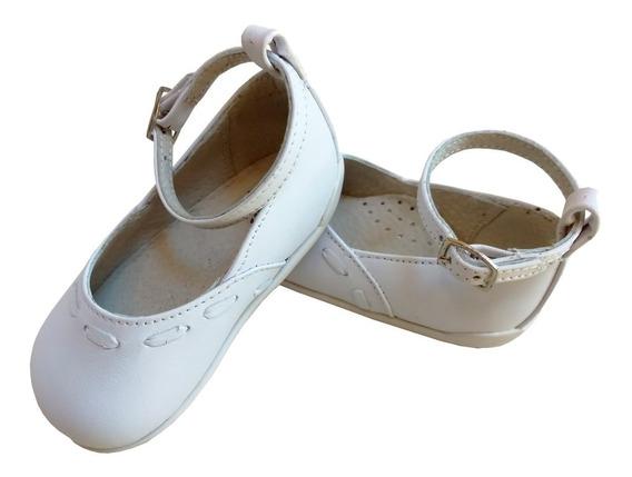 Zapato Bailarina Chatita Bebe Nena Niña Bautismo 100% Cuero